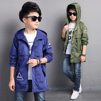 The Boy S Jacket 2017 New Spring Children Children Long Windbreaker Jacket In Spring Casual Jacket