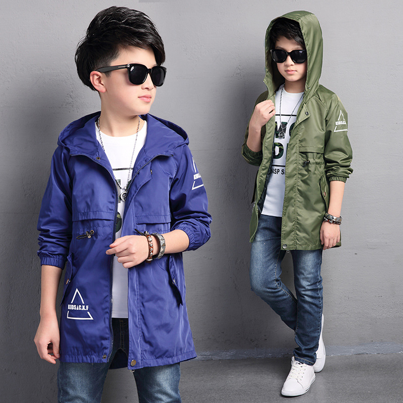 Kids Toddler Boys Jacket Coat Hooded Jacket For Børn Overtøj Tøj Minnie Spring Baby Boy Tøj Windbreaker Blazer