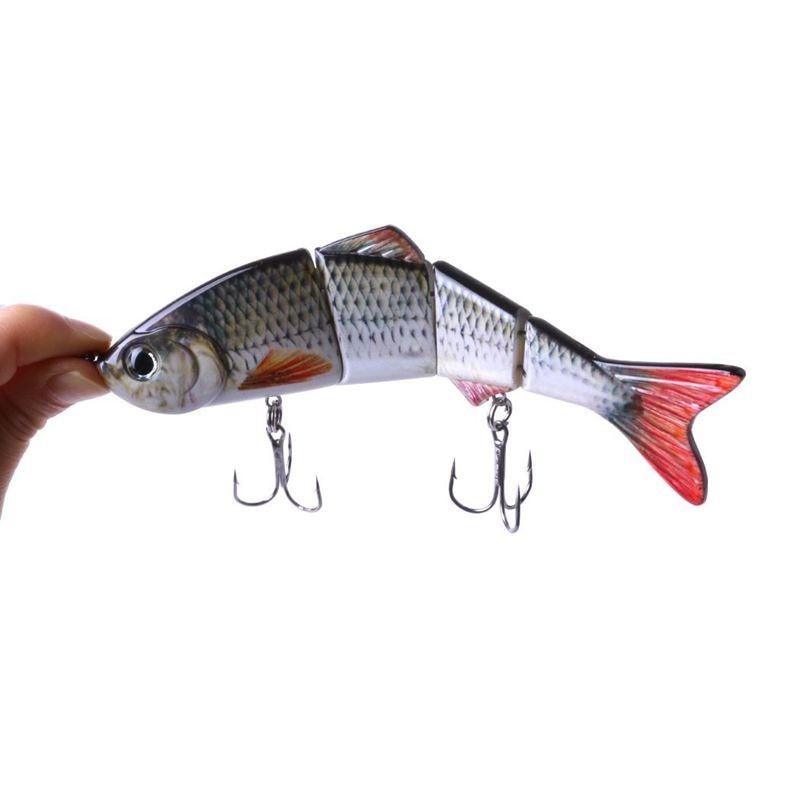 Multi Jointed Bass Muskie Pike Striper Fishing Bait Swimbait Lure 15cm//37.3g NEW
