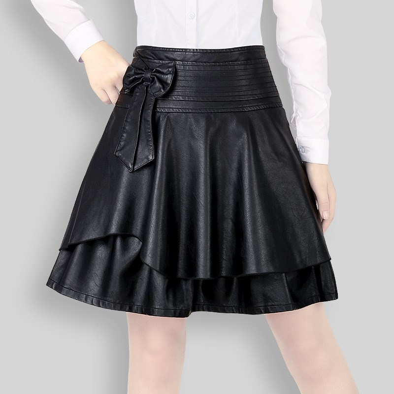 Online Buy Wholesale leather short skirt from China leather short ...