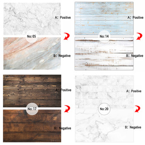 Image 5 - Double sided Different Styles Woodgrain Cement Marble Texture Photography Backdrop Paper Studio Prop for Food Cosmetic Mini Item