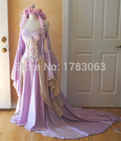 Lady Gwen Lace Up Fantasy Medieval Velvet and Lace Gown/Southern Belle Gown Reenactment Theater Costume