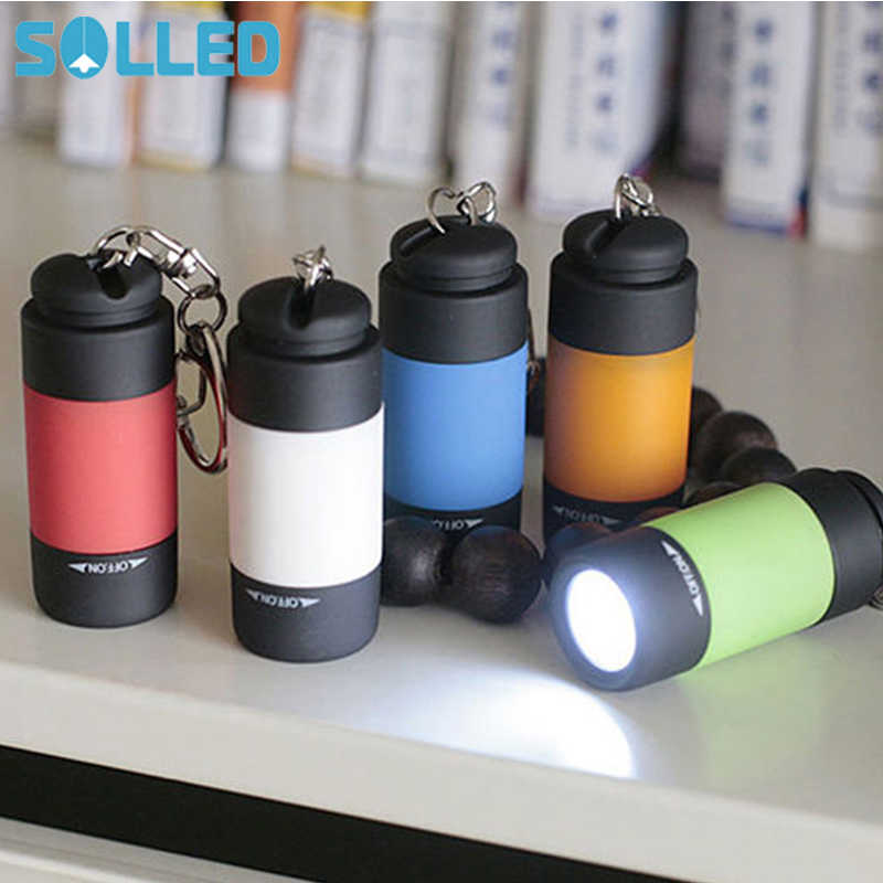 Solled Draagbare Mini Sleutelhanger Usb Oplaadbare Pocket Zaklamp Zaklamp Light Lamp IP67 Waterdichte Multicolor Zaklamp