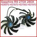 2 pçs/lote Lógica Poder PLD10010S12HH 85mm Fan 4Pin Para Safira 270X R9 280X HD7970 HD7950 HD7870 Placa Gráfica HD6970 Ventilador de refrigeração