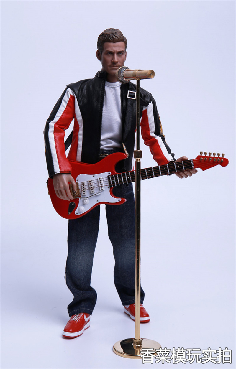 1//6 Adjustable Microphone Guitar Model for Action Figures Hot Toys Doll