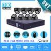 Home 8CH Full 960H D1 Recording CCTV Security DVR System 700TVL Indoor Dome Camera DIY Kit