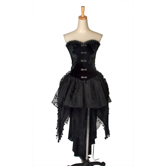 Punk Gothic Lolita Dress Corset with tail Women Palace Club Prom ...