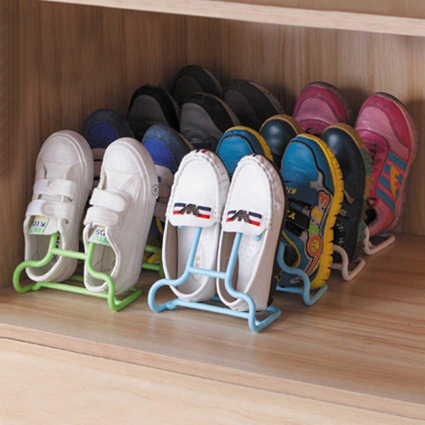 1 ชิ้น Multi - Function เด็กเด็กรองเท้าแขวนชั้นวางของชั้นวางรองเท้า Rack ขาตั้งแขวนตู้เสื้อผ้า