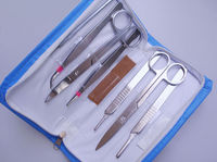 7 Tools Set Dissecting Dissection Kit Set Biology Student Lab New