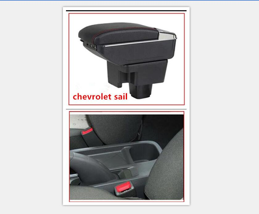 For chevrolet Sail armrest center Storage box 3color with cup winner ashtray interior car-styling accessory 2010-2014
