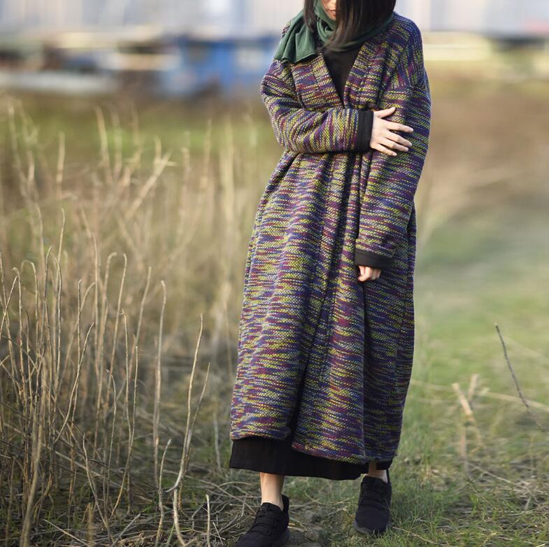 YoYiKamomo Women Sweater 2018 Knitted Cardigan Autumn Winter Cardigan Long Sleeve Vintage Sweater Loose Casual Warm Long Coat-in Cardigans from Women's Clothing    1