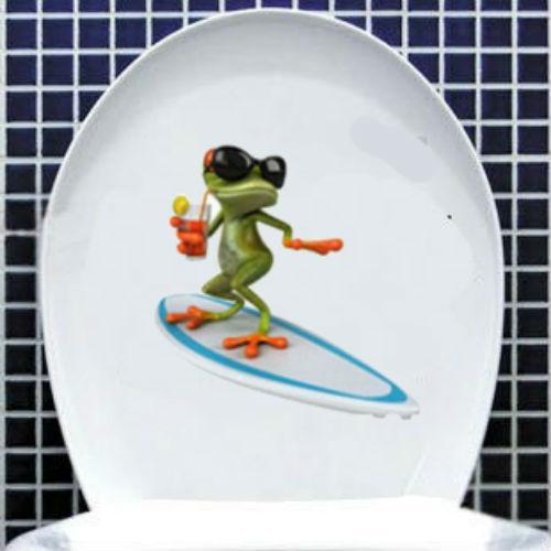 Aliexpress.com : Buy 3D Fashion Toilet Sticker Cute Green Frog ... : toaletter decor : Inredning