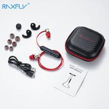 RAXFLY الرياضة بلوتوث سماعة مع ميكروفون APTX سماعة لاسلكية تعمل بالبلوتوث سماعات الرأس إلغاء الضوضاء في الأذن الموسيقى ياربود