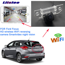 LiisLee car Rear View WIFI Camera for Ford Focus Hatchback 2004~2008 HD  Reversing Assistance license plate wireless