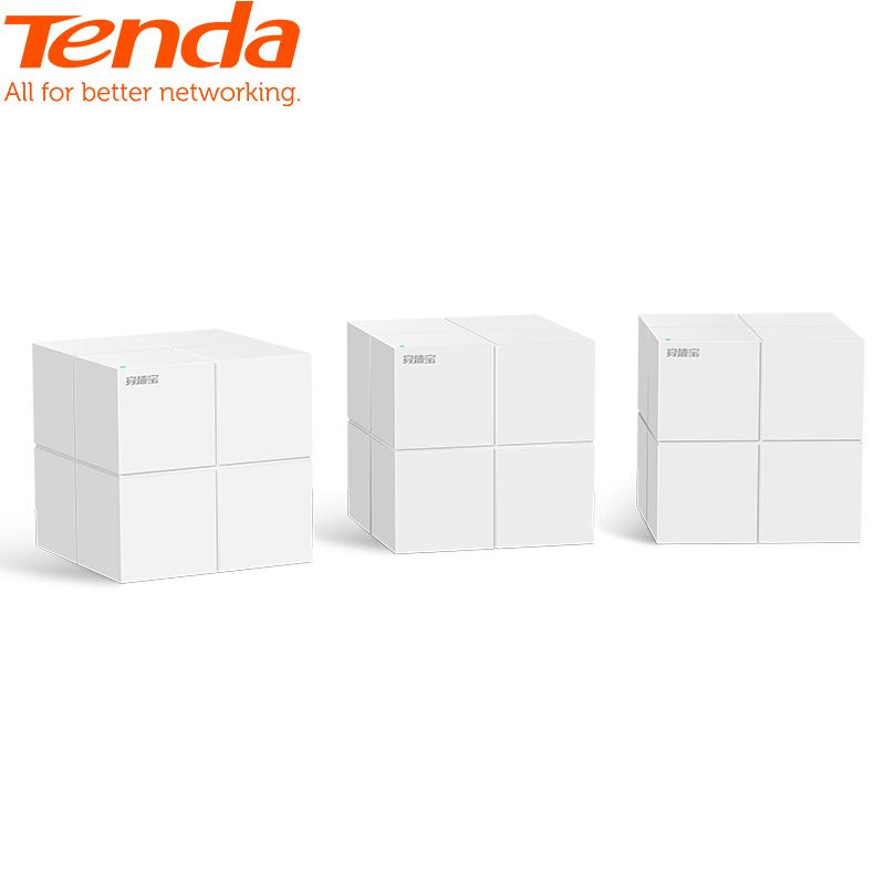 Tenda Nova MW6 Whole Home Mesh WiFi Gigabit System with AC1200 2.4G/5.0GHz WiFi Wireless Router and Repeater, APP Remote Manage(China)