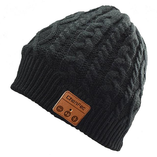 2018 New Fashion Warm Beanie Hat Wireless Bluetooth Smart Music Mp3 Cap Headphone Headset Speaker Mic Magic Sport Knitted Hats
