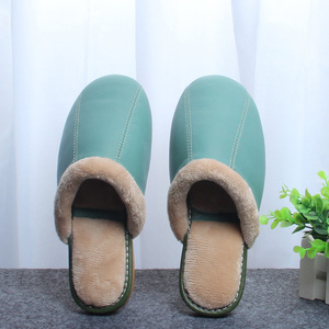 Image 4 - ST SUPER TRADE Winter Women Leather Slippers Home Shoes Sheepskin Slipper Warm Comfortable Thick Bottom Slippers