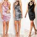 Summer Sexy Women Velvet Dresses Ladies Sleeveless Wrap Beach Gray Mini Short Bodycon Dress Robe Femme Ukraine