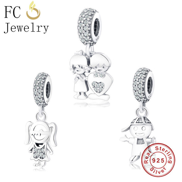 Fc Jewelry Fit Original Pandora Charms Bracelet 925 Sterling Silver European Boy Family Mixed Kralen