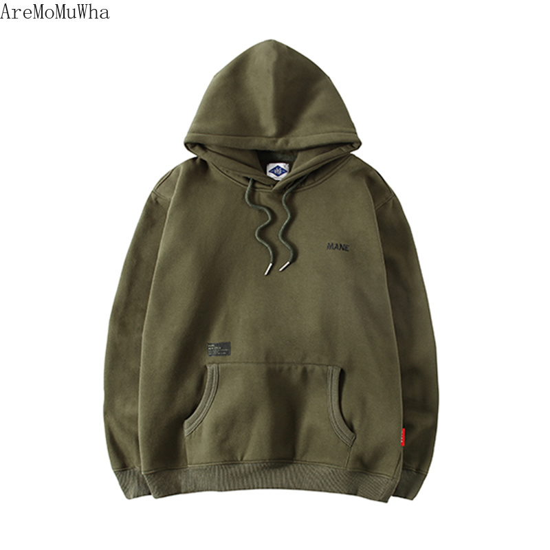 Men's Clothing Audacious Aremomuwha Tide Brand Port Wind Mens Hoodies Spring And Autumn Models Plus Velvet Casual Coat Head Japanese Loose Caots Qx209