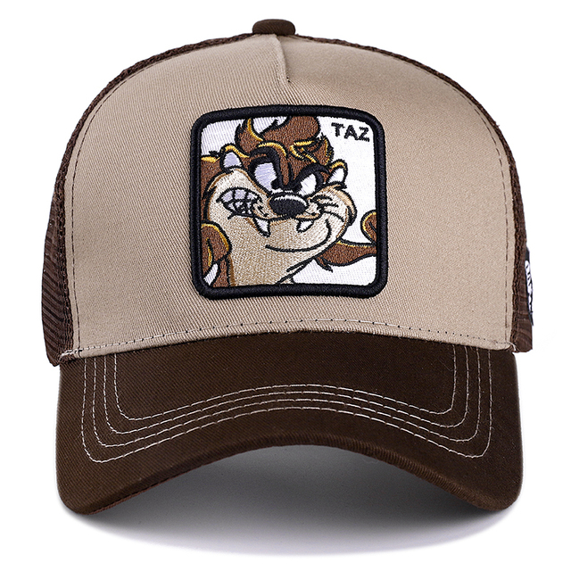 New Brand Anime TAZ KHAKI Snapback Cap Cotton Baseball Cap Men Women Hip Hop Dad Mesh Hat Trucker Dropshipping 1
