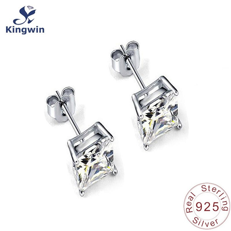 925 Sterling Silver /& Gold-tone CZ /& Red Stone Dangle Post Earrings