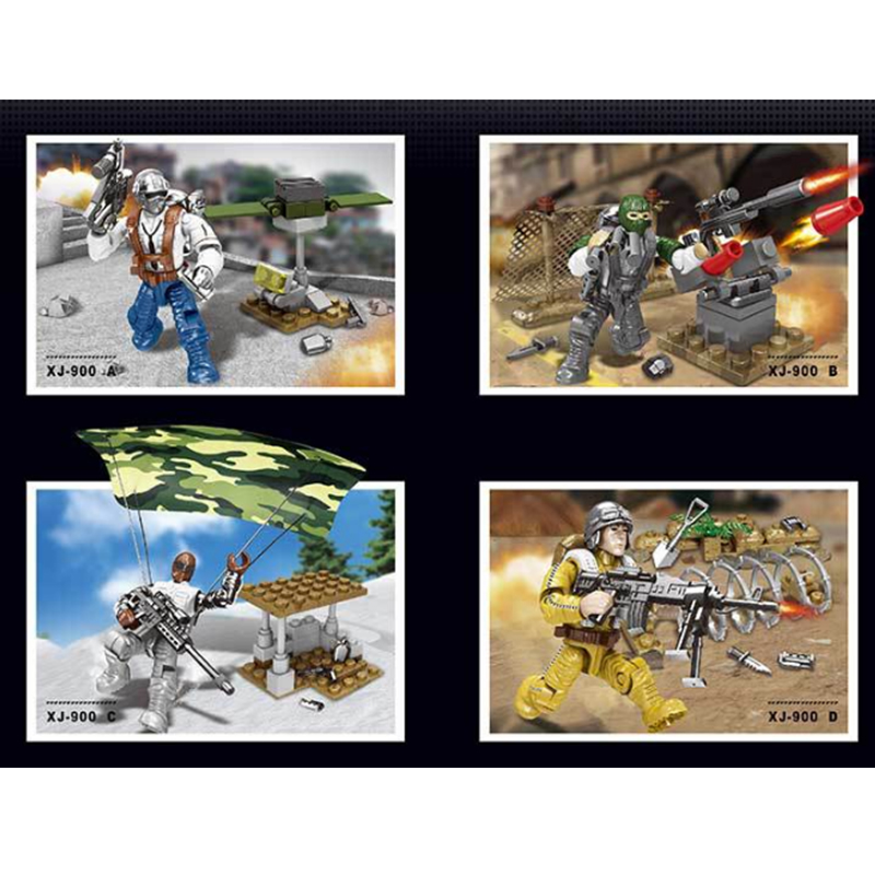 100% True 4pcs Military Swat Team Guns Weapon Pack Building Blocks City Police Soldiers Figure Ww2 Legoinglys Army Builder Series Toys Beneficial To Essential Medulla Toys & Hobbies Model Building