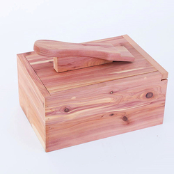 Multi Functional Storage Stool Red Cedar Wood Shine Box Creative Shoes Care Kit