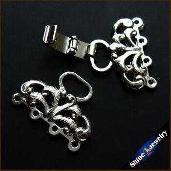 a14a3518d34b Venta al por mayor de joyería resultados y componentes Vintage broches flor  filigrana de Metal de cobre Diy perlas collar de palanca conector