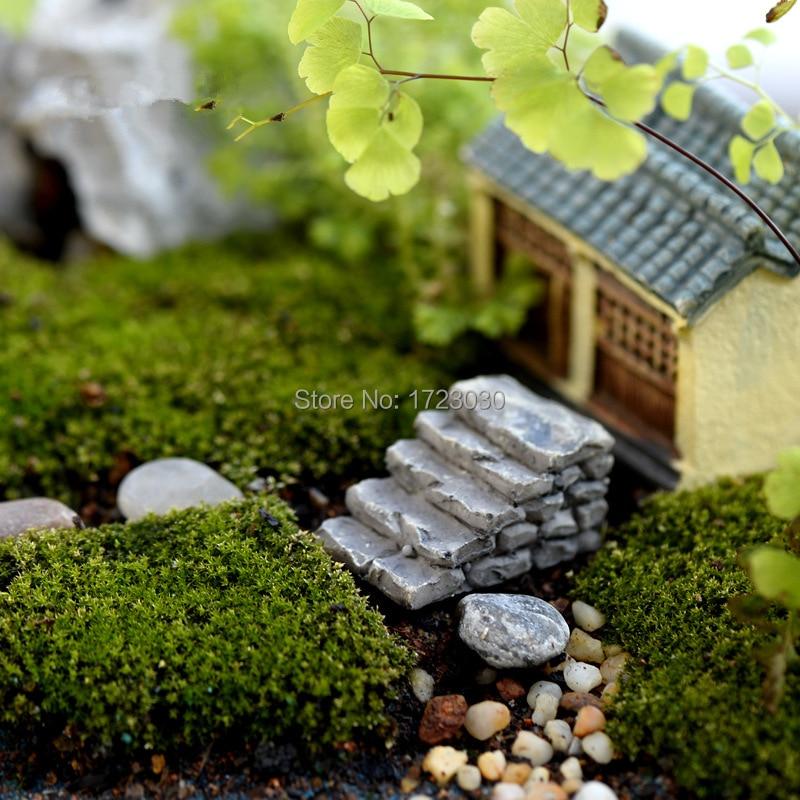 Buy 2pcs cute resin crafts decorations miniature ladder fairy gnome terrarium - Miniature terrarium decorations ...