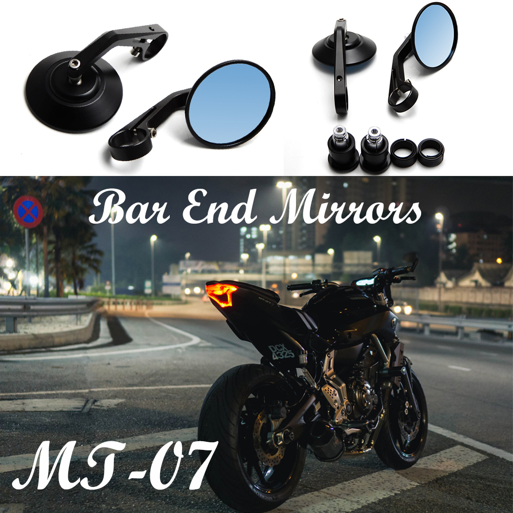 купить Motorcycle For Yamaha MT-07 MT-09 For BMW s1000r mirrors 13-18mm for Crusier Rear side CNC HandleBar End Rear Mirrors