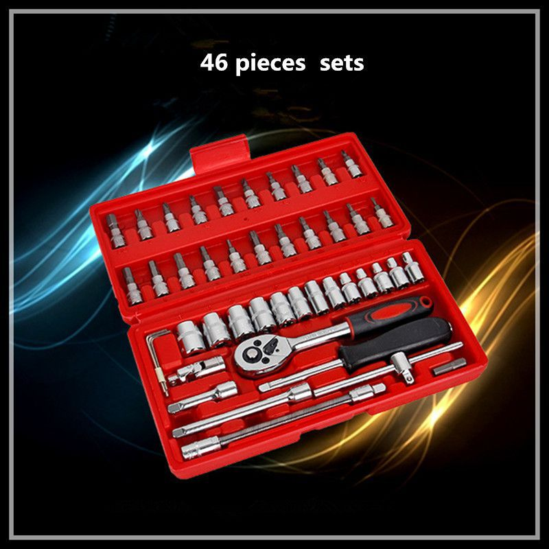 Car maintenance tools sets combination of micro 46 pieces of wrench set 6.3mm small fly ratchet wrench hand tools xkai 14pcs 6 19mm ratchet spanner combination wrench a set of keys ratchet skate tool ratchet handle chrome vanadium
