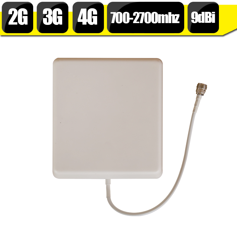 Outdoor Panel Antenna 700-2700hz 2G 3G 4G CDMA850 GSM900 PCS1900 LTE2600mhz Mobile Phone Signal Antenna N Type Connector 9dBi