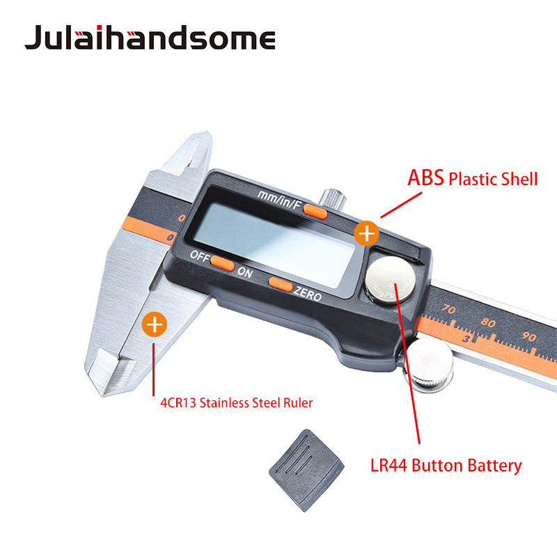 Julaihandsome Digital Vernier Caliper Stainless Steel Electronic Caliper 3 Mode LCD Micrometer Depth 6 Inch Measuring Tools in Calipers from Tools