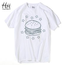 HanHent Clearance Sales White T Shirt 100% Cotton Basic Men T-shirt Printed Casual Shirt Streetwear Best Friend Tee Shirts Male(China)