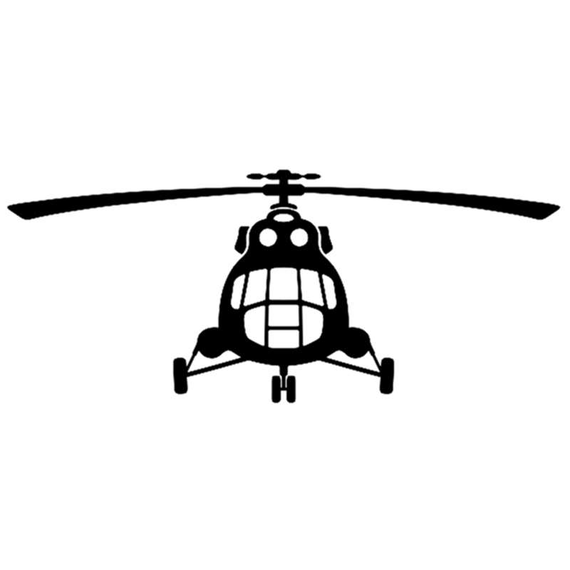 CS-419#12.6*30cm Sticker -Mi 8 Helicopter Funny Car Sticker And Decal Silver/black Vinyl Auto Car Stickers