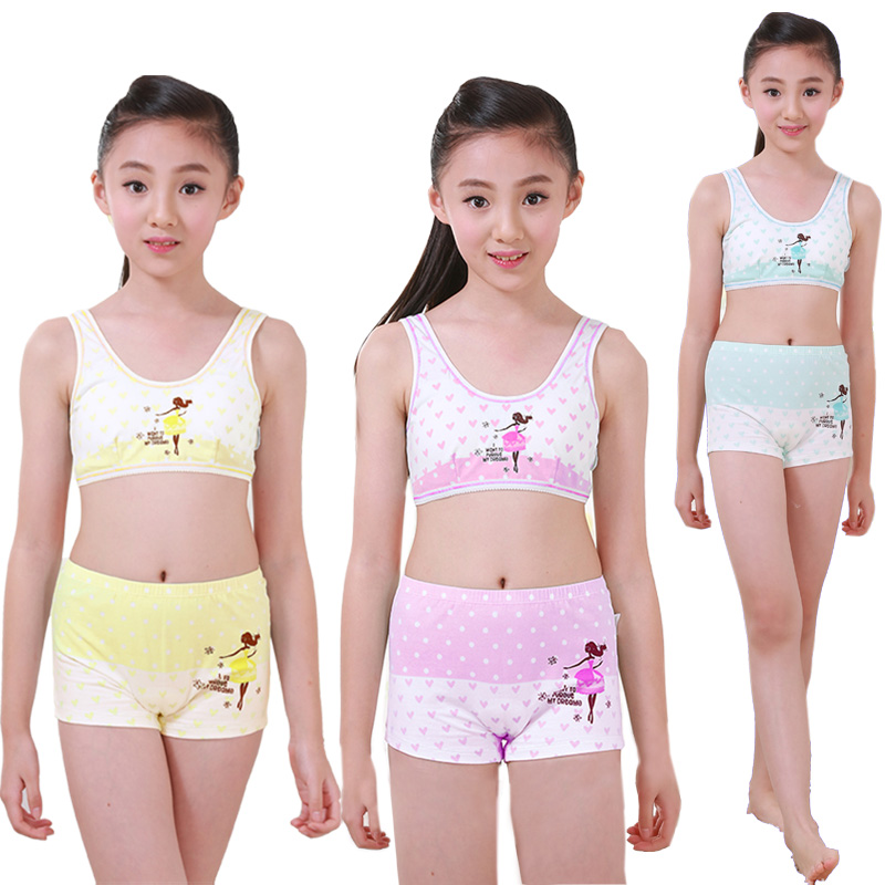 e65fe02cc9 Girls Cosy Undies Puberty Children Teenagers Student Sport Set ...