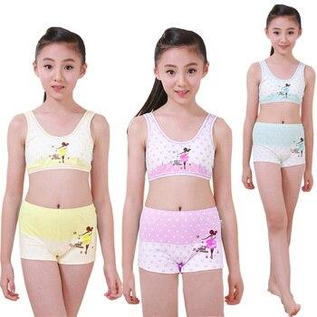 SENZHIGU Children Teenagers Sport Girl Cotton Set Vest girl
