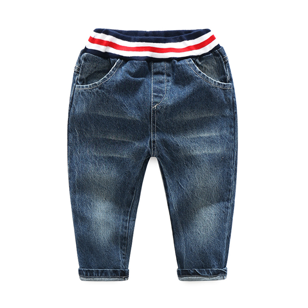 Tem Doger Children Boys Spring Trousers Boy Jeans Fashionable Style Kids Jeans Boy Long Denim Pants(China)