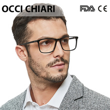 OCCI CHIARI Prescription Glasses Men Black Optical Frame Ant