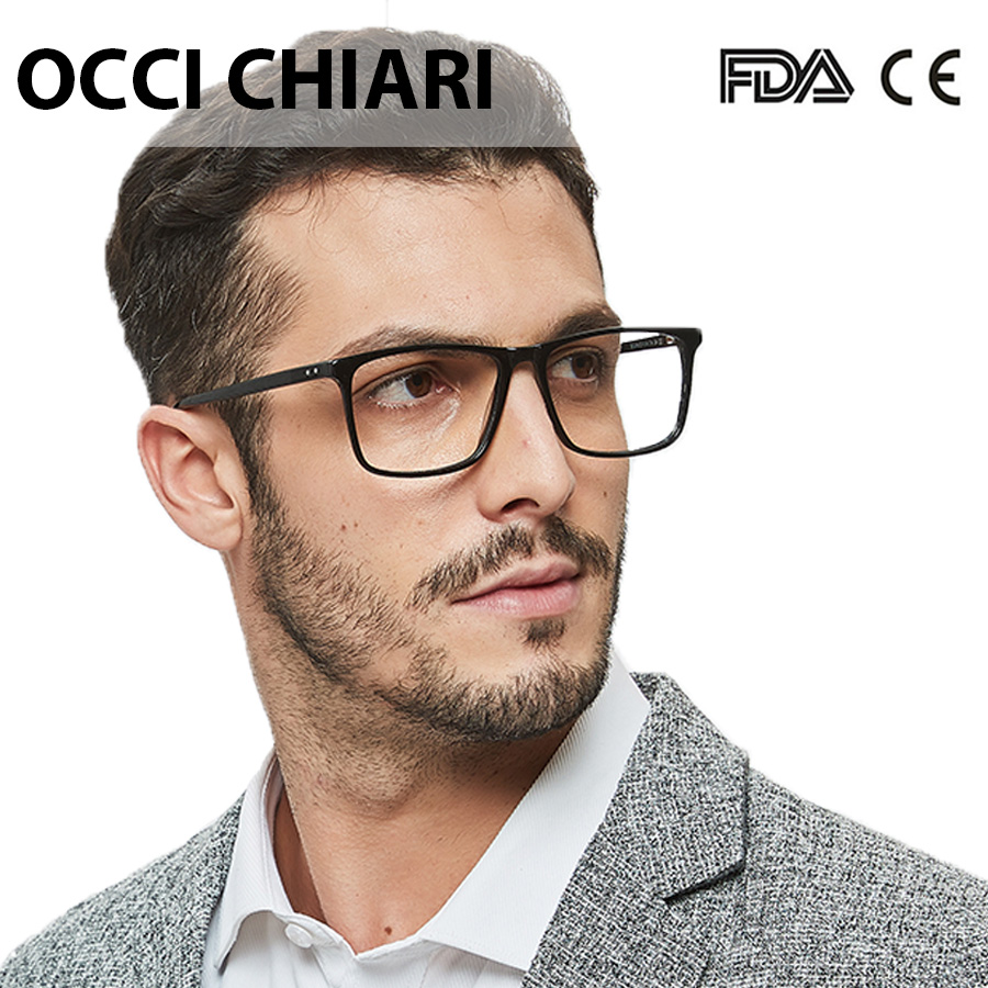 OCCI CHIARI <font><b>Prescription</b></font> <font><b>Glasses</b></font> <font><b>Men</b></font> Black Optical Frame Anti-blue Light Photochromic Eyeglasses Myopia <font><b>Progressive</b></font> Eyewear image