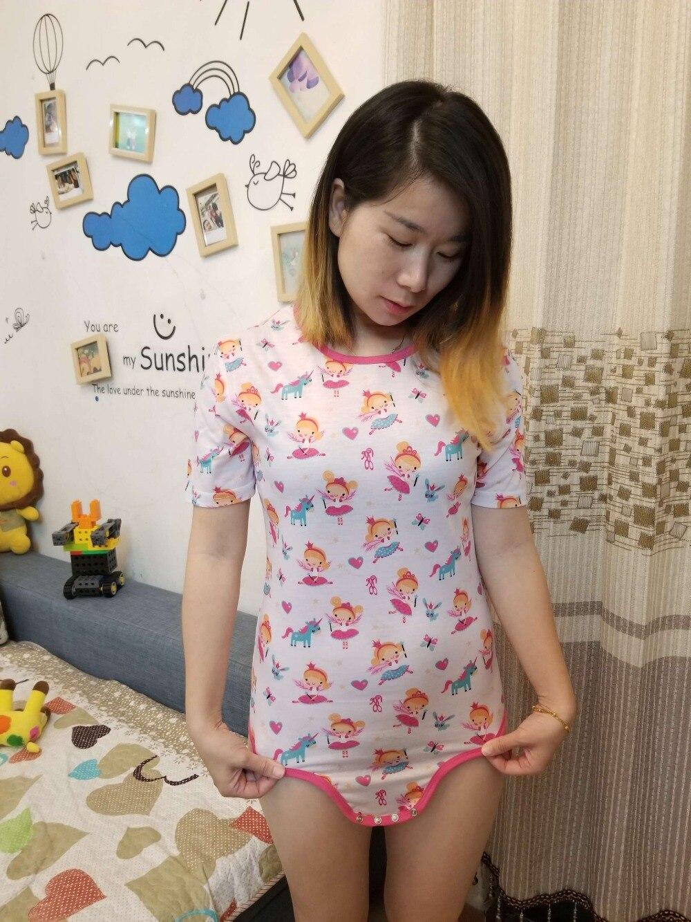 Sporting Zehn @ Nacht Frauen Onesie Erwachsene Baby Affe Pyjamas Abdl Strampler Snap Gabelung