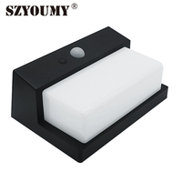 SZYOUMY Solar Powered Garden Wall Light Factory Price 20pcs A lot 50LED Waterproof PIR Motion Sensor Solar Fence Lamp