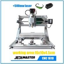 CNC 1610 + 500 mw láser GRBL DIY CNC machine, 3 Ejes Fresadora de Pcb, madera Router, máquina de grabado láser