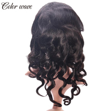 Color Wave Silk Top Glueless Full Lace Wigs Loose Wave Virgin Brazilian Full Lace Human Hair Silk Base Wig With Baby Hair