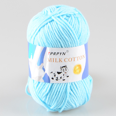 TPRPYN 1 шт. = 50 г пряжа для вязания крючком из молочного хлопка, мягкая теплая Детская Пряжа для ручного вязания - Цвет: 84 water blue