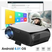 Everycom GP100 Film Projector 3200 Lumens Support Full HD 1080P HDMI USB LED LCD Home Theater Beamer
