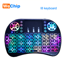 Mini Keyboard Touchpad Backlit Russian Air-Mouse Wireless Handheld English for Android