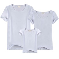 Summer Short Sleeved Cotton Pure Color T Shirt Family Outfit 32 All Cottonlycras Of High Quality