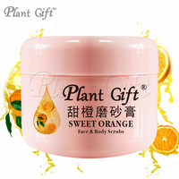 SWEET ORANGE Face & Body Scrubs 100G Remove the old horny Gentle cleansing skin surface with grease and dirt smooth skin.
